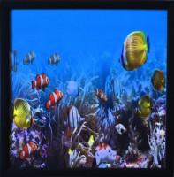 eCraftIndia 3d Sea Life View Design Satin Matt Texture Canvas Painting(11 inch x 11 inch)
