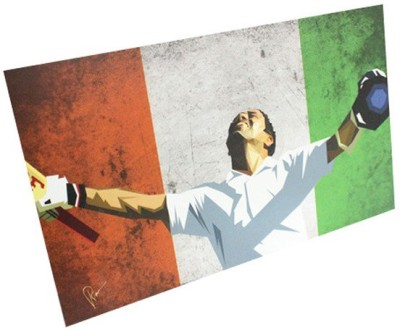 Graphicurry Sachin Digital Reprint Painting
