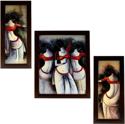 Indianara Dancing Indian Women Ink Painting