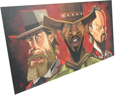 Graphicurry Django unchained Digital Reprint Painting