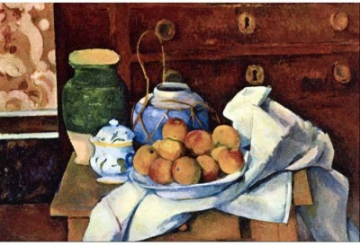 Snapgalaxy Art Panel - Still Life with Chest of Drawers by Cezanne Canvas Painting