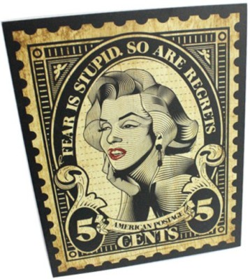 Graphicurry Monroe Stamp Canvas Painting