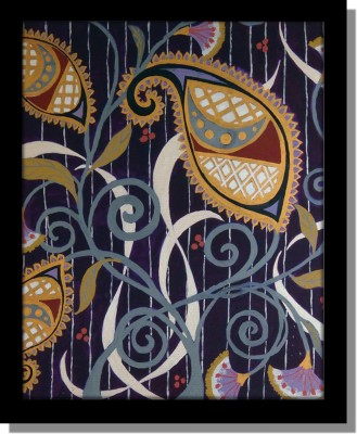 Yudezine Blue pasiley Canvas Painting