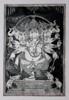 Buy Sell Craft Panchamukhi Ganesha Pattachitra Traditional Religious Art Canvas Painting