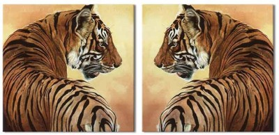 Painting Mantra Tiger Art 2 Piece Set Canvas Painting
