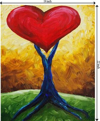 Tiedribbons Fruit of Love unframed Cotton Medium Grain Canvas Roll (Set of 1)