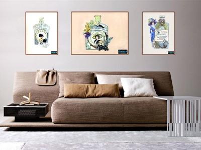 Studio Moda Love For Perfumes C Canvas Painting