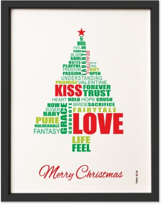TwoGud Christmas Special- Christmas Tree Digital Print Wall Art Ink Painting