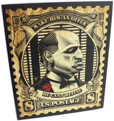 Graphicurry Godfather Stamp Canvas Painting
