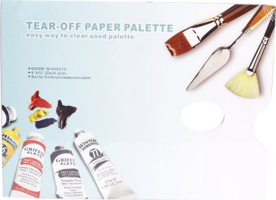 Kabeer Art Solid Paper 0 Paint Wells Palettes