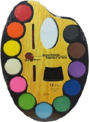 Shopat7 Wood 12 Paint Wells Palettes  with Lid