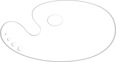 Asint kidney shape plastic 14*8 inch 1 Paint Wells Palettes
