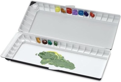 Mijello Plastic 40 Paint Wells Palettes  with Lid