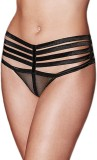 TIMI Women's Thong Black Panty (Pack of ...