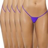 FIHA Women's G-string Blue Panty (Pack o...