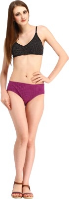 Styllia Women's Thong Purple Panty