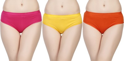 Deep Under Women's Brief Pink, Yellow, Orange Panty