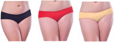 Our Rituals Women's Hipster Black, Red, Yellow Panty