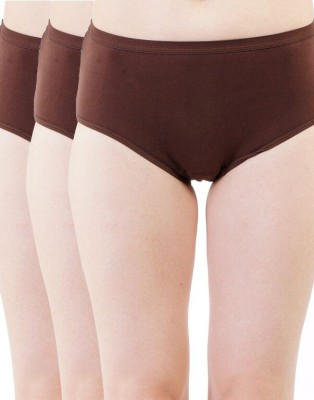 Kidley Women's Hipster Brown Panty