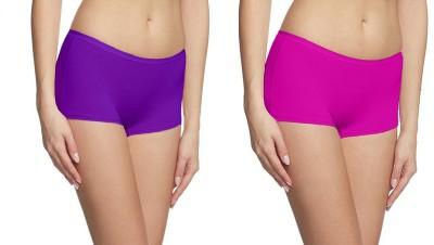 Fashion Line Women's Boy Short Multicolor Panty(Pack of 2) at flipkart