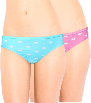 Leading Lady Women's Bikini Pink, Light Blue Panty