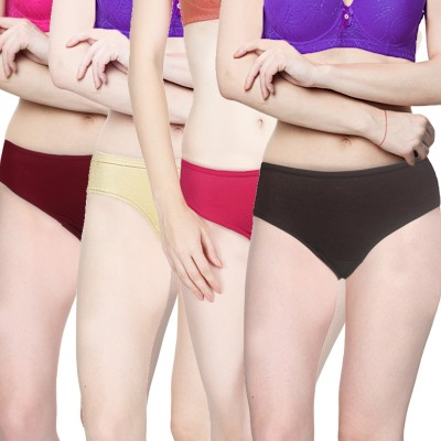Addyvero Women's Brief Multicolor Panty(Pack of 4) at flipkart