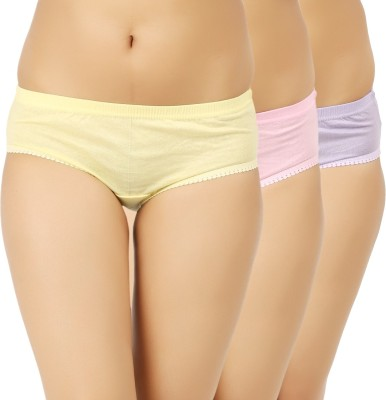 Vaishma Women's Brief Yellow, Purple, Pink Panty