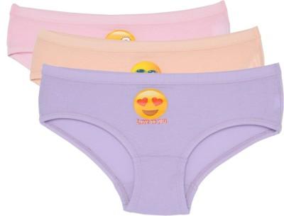 Chicita Bonny(S)ComfortSmiley(PSTL)1 Girl's Brief Multicolor Panty