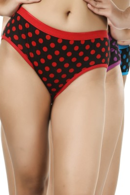 Deep Under Women's Hipster Red, Purple, Blue Panty