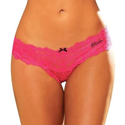 Hustler KPHP14 Women's Thong Pink Panty