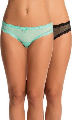 PrettySecrets Women's Bikini Multicolor Panty(Pack of 2) at flipkart