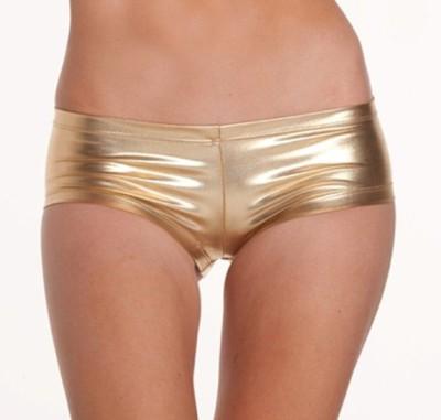 YRD Metallic Women's Boy Short Gold Panty