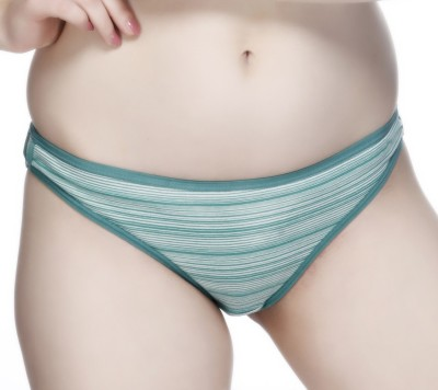 Nutex Women's Brief Green, Blue Panty