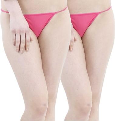 SIZZLE N SHINE Women's G-string Pink Panty