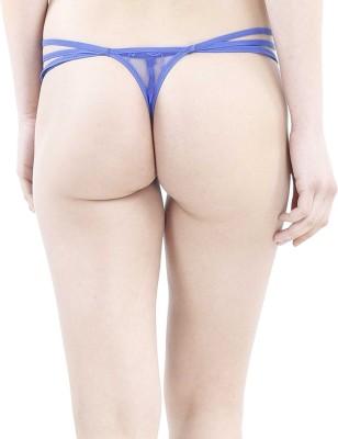 JKFs Women's Thong Blue Panty