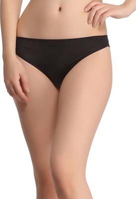Clovia Women's Bikini Black Panty