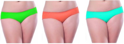 Our Rituals Women's Hipster Green, Orange, Light Green Panty