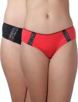 Heart 2 Heart Women's Hipster Red, Black Panty(Pack of 2) best price on Flipkart @ Rs. 390