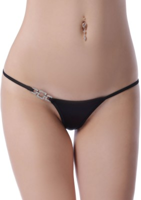 N-Gal Jeweled Side Thong Women's Thong Black Panty