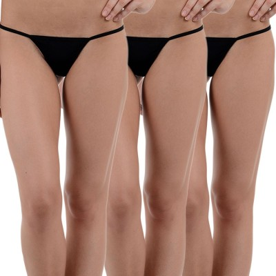 SIZZLE N SHINE Women's G-string Black Panty