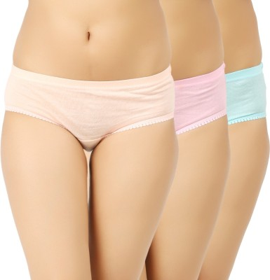 Vaishma Women's Brief Beige, Pink, Green Panty