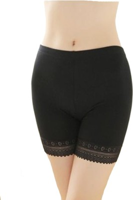 Florentyne Women's Boy Short Black Panty(Pack of 1) at flipkart