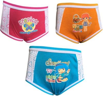 Lilsugar Girl's Hipster Orange, Blue, Pink Panty