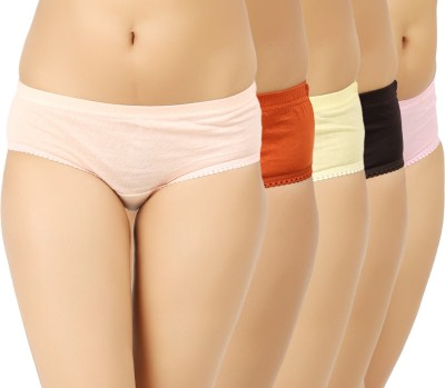 Vaishma Women's Brief Beige, Pink, Brown, Yellow, Pink Panty