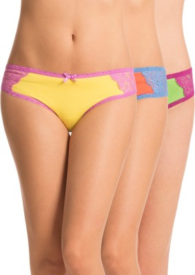 PrettySecrets Women's Bikini Green, Orange, Yellow Panty