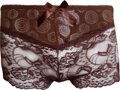 Fenleisi Intimate Passion Womens Boy Short Brown Panty