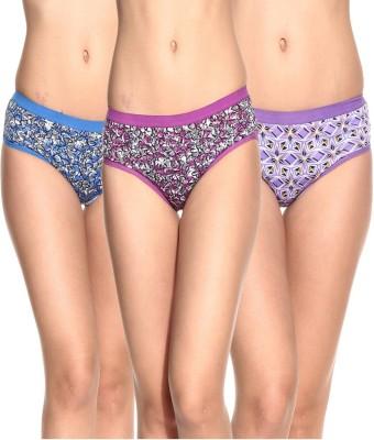 Ultrafit UL-P3001-3-4-5 Women's Brief Multicolor Panty