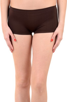 Mynte Women's Boy Short Brown Panty