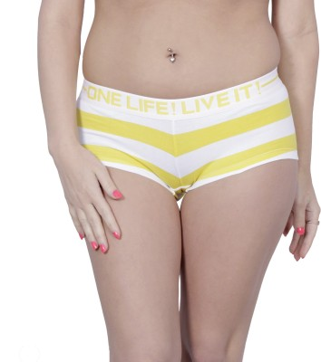 Olli Women's Hipster Yellow, White Panty