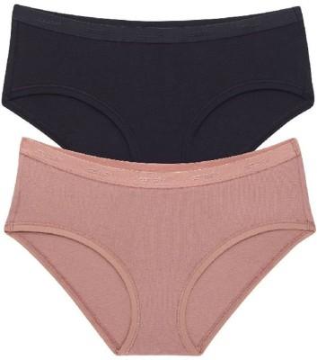 Amante Women's Hipster Beige, Black Panty